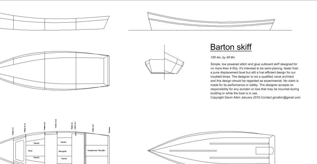 canal boat plan
