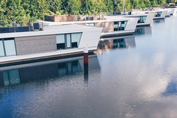 modern style houseboat